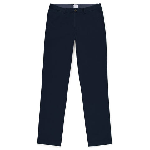 Sunspel Navy 5 Pocket Garment-Dyed Cotton Twill Chinos-Chino-Sunspel-Burrows and Hare