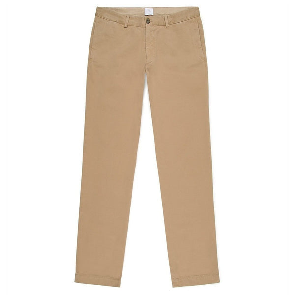 Sunspel Stone 5 Pocket Garment-Dyed Cotton Twill Chinos - Burrows and Hare