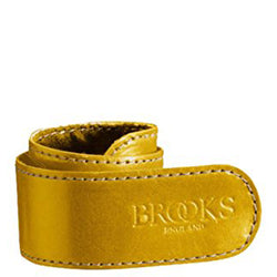 Brooks England Leather Trouser Strap - Yellow - Burrows and Hare