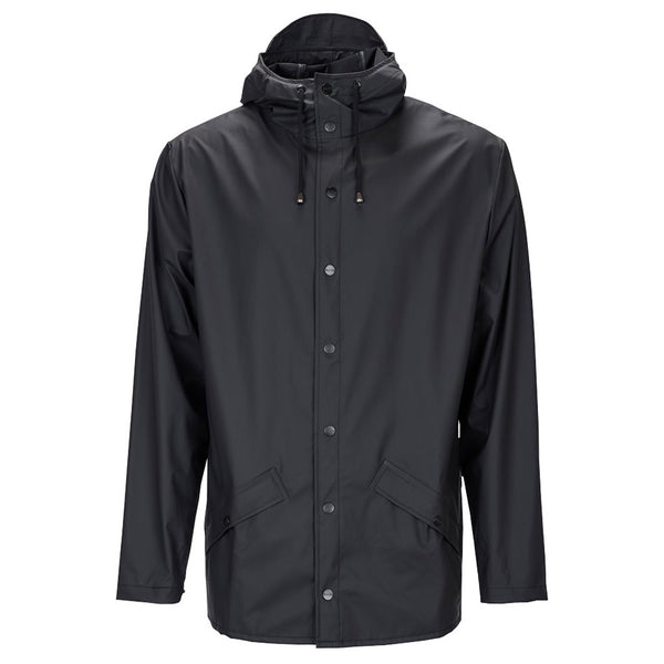 Rains Waterproof Jacket - Black - Burrows and Hare