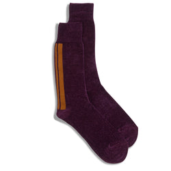 Anonymous Ism Crew Sock - Purple - Burrows and Hare