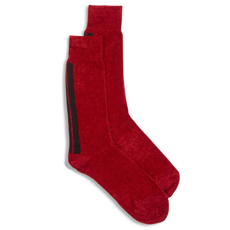 Anonymous Ism Crew Sock - Red - Burrows and Hare