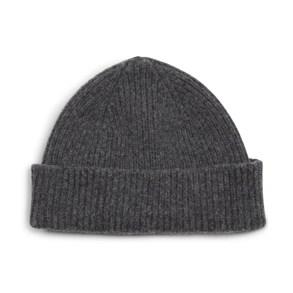 Burrows and Hare Wool Beanie Hat - Grey - Burrows and Hare