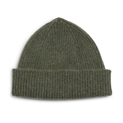 Burrows and Hare Wool Beanie Hat - Moss - Burrows and Hare