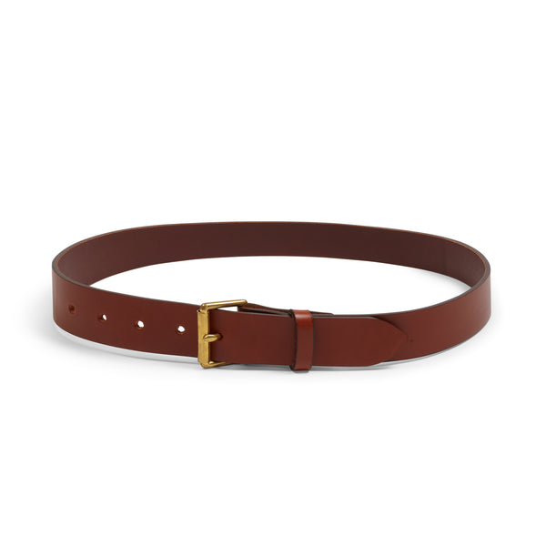 Burrows & Hare Bridle Leather Belt - Tan - Burrows and Hare