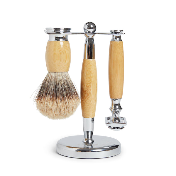 Burrows & Hare Shaving Stand Set - Wooden - Burrows and Hare
