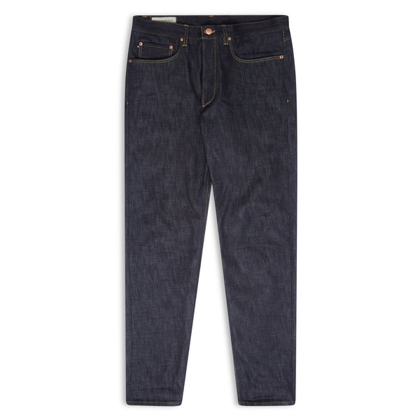 Blackhorse Lane - E8 SLIM TAPERED INDIGO 15.5OZ TURKISH RAW SELVEDGE MENS JEANS - Burrows and Hare