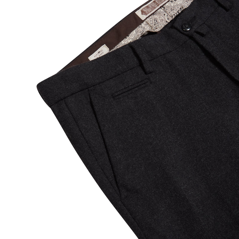 Burrows & Hare Woollen Trouser - Charcoal - Burrows and Hare