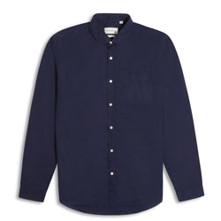 Oliver Spencer Eton Collar Shirt Abbott - Navy - Burrows and Hare