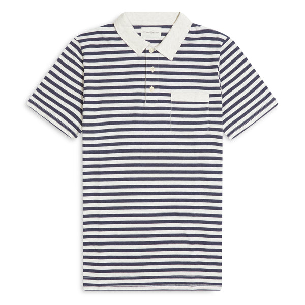 Oliver Spencer Dunmore Polo - Navy - Burrows and Hare