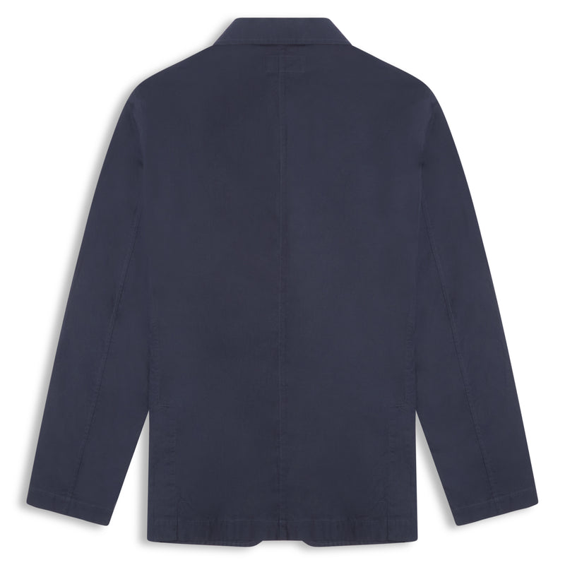 Universal Works Poplin London Jacket - Navy - Burrows and Hare