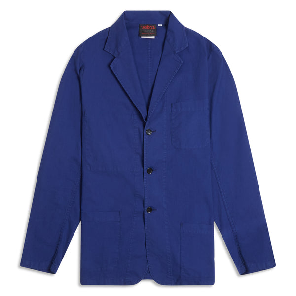 Vetra Overdyed Blazer - Hydrone Blue - Burrows and Hare