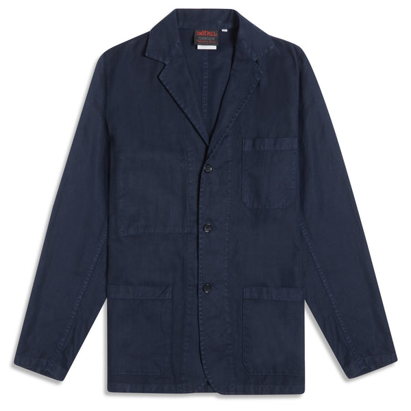 Vetra Weaved Blazer - Navy - Burrows and Hare