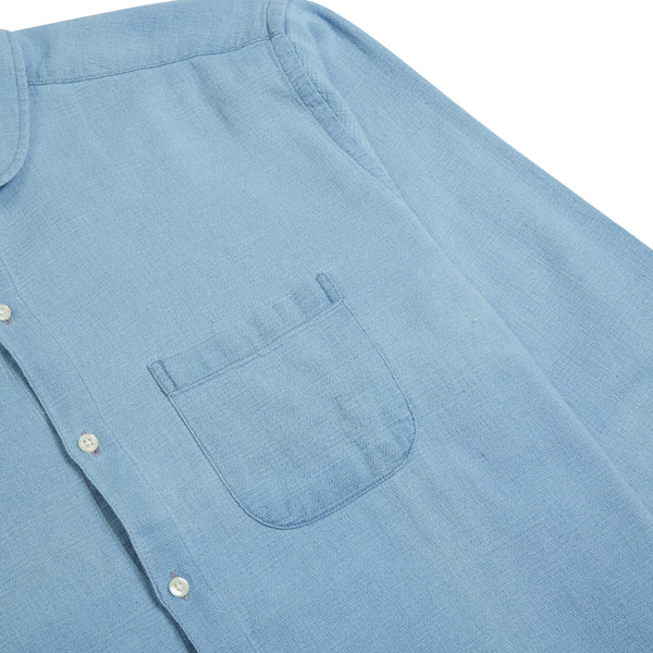 Oliver Spencer Eton Collar Shirt Kildale - Indigo Light