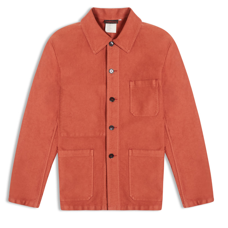 Vetra Moleskin Workwear Jacket - Quince - Burrows and Hare