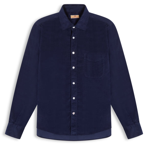Burrows & Hare Cord Shirt - Navy - Burrows and Hare