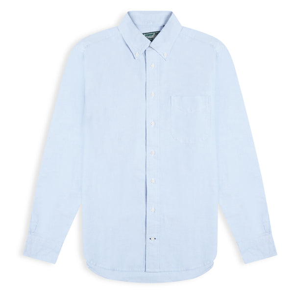 Gitman Bros. Vintage Oxford Button Down Shirt - Blue - Burrows and Hare