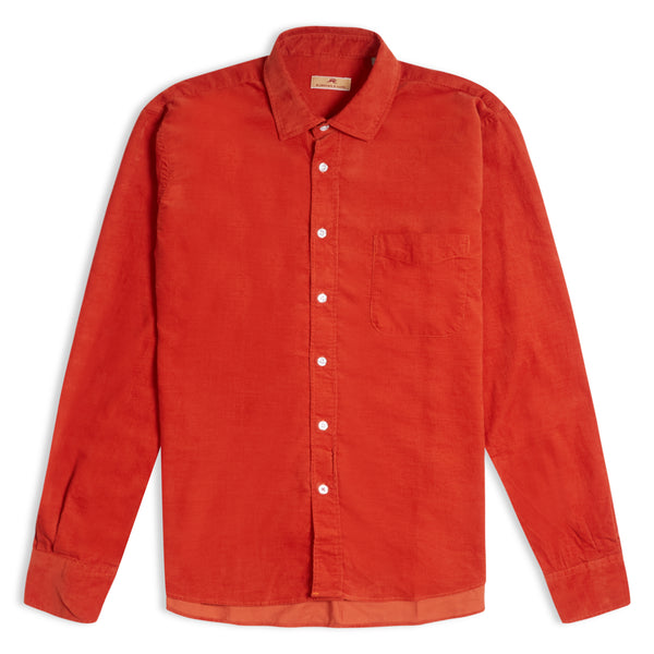 Burrows and Hare Cord Shirt - Rust - Burrows and Hare