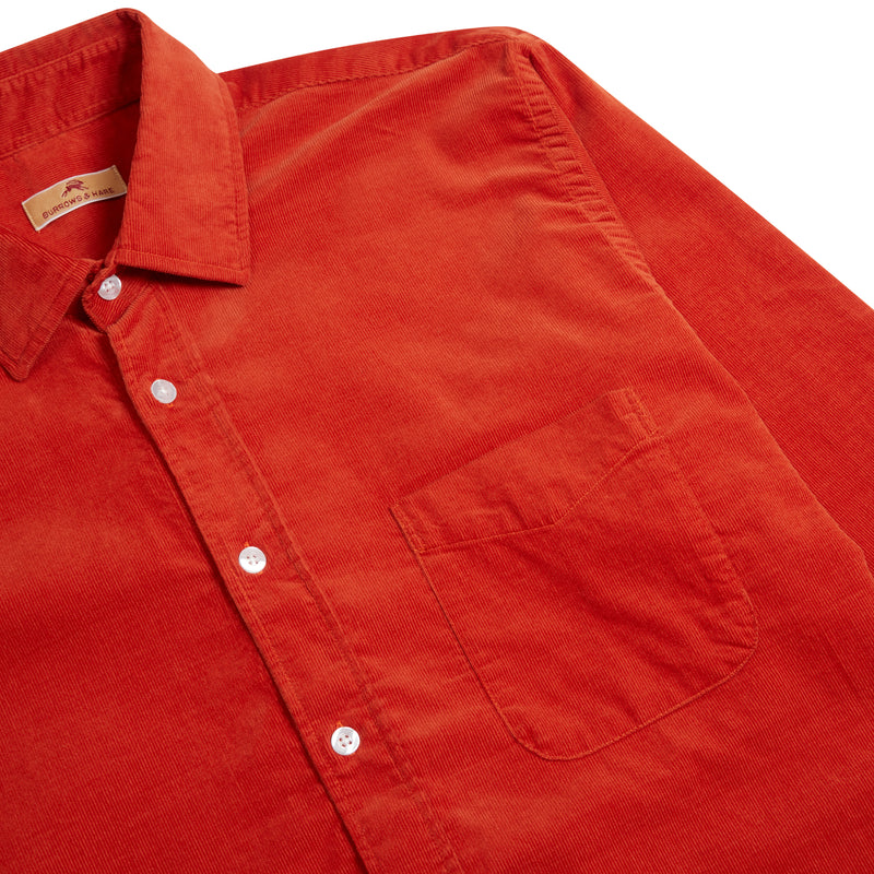 Burrows & Hare Cord Shirt - Rust - Burrows and Hare