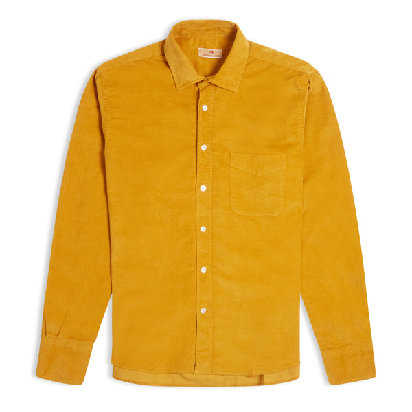 Burrows and Hare Cord Shirt - Mustard - Burrows and Hare