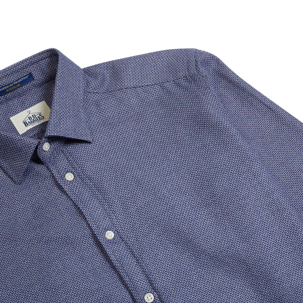 B.D. Baggies Bradford Cross Stitch Shirt - Navy - Burrows and Hare