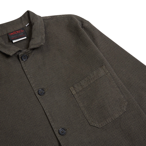 Vetra Houndstooth Jacket - Khaki - Burrows and Hare