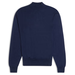 Burrows & Hare Mock Turtle Neck - Navy - Burrows and Hare