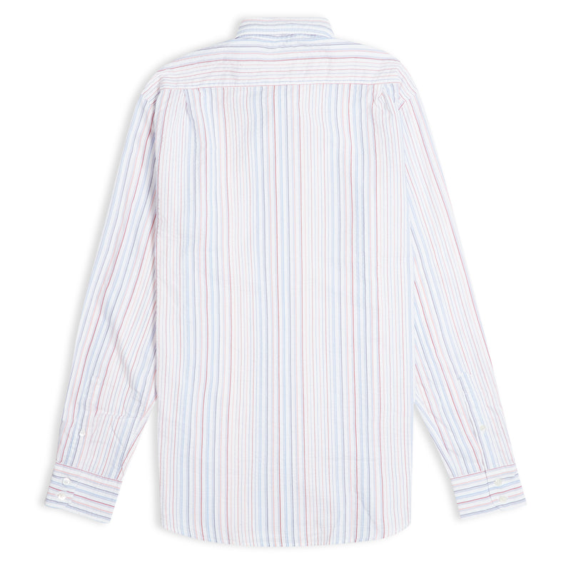 Hartford Paul Striped Shirt - Multi - Burrows and Hare