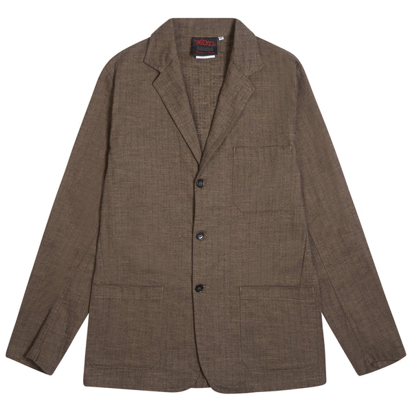Vetra Moleskin Blazer - Thyme - Burrows and Hare