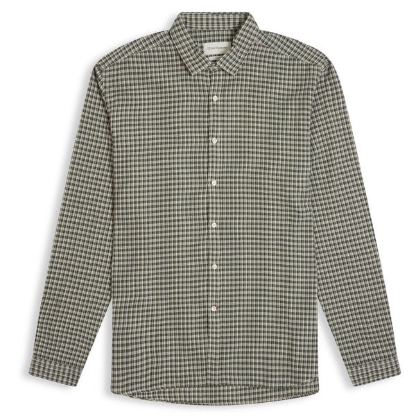 Oliver Spencer Clerkenwell Tab Shirt Thorndon - Green - Burrows and Hare