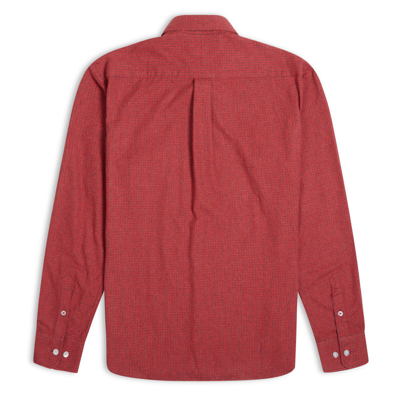 Burrows and Hare Micro-Check Shirt - Red - Burrows and Hare