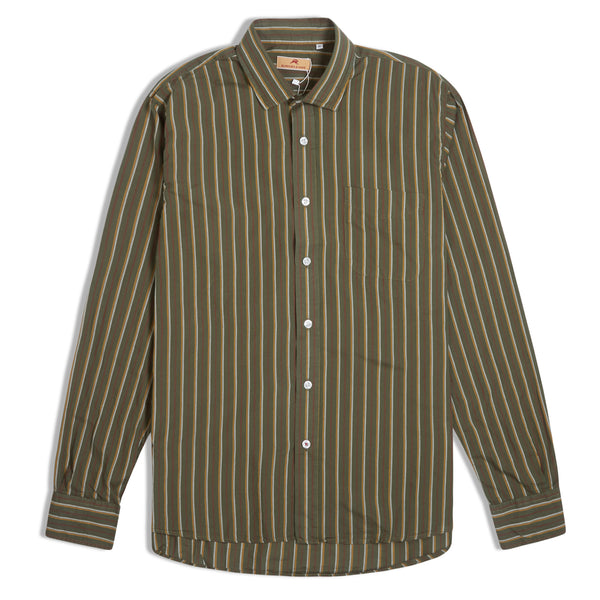 Burrows & Hare Stripe Shirt - Green - Burrows and Hare