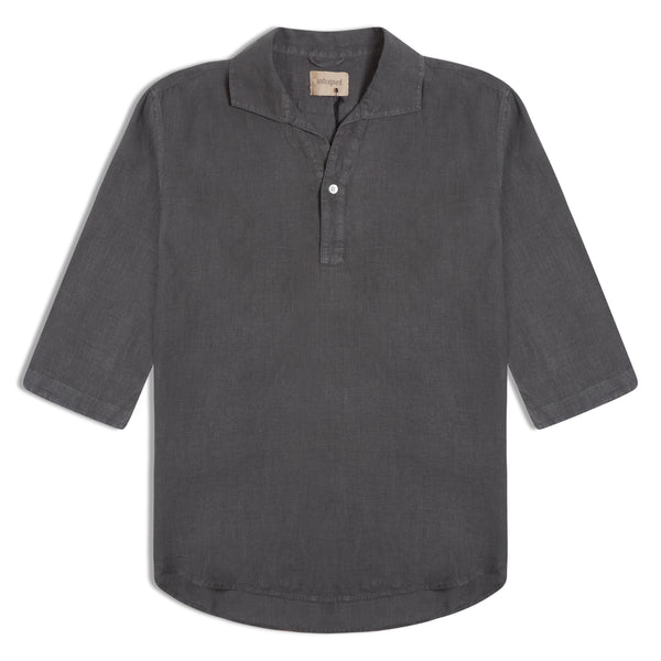 Unfeigned Polera Linen Shirt - Dark Shadow