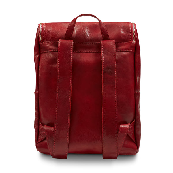 Burrows & Hare Leather Backpack - Red - Burrows and Hare