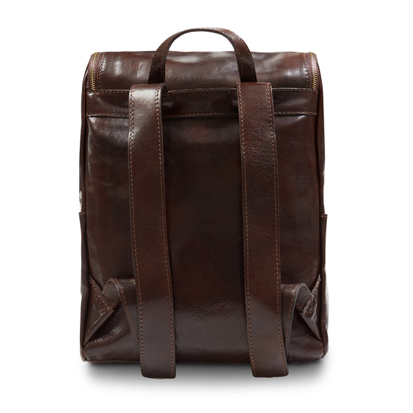 Burrows and Hare Leather Backpack - Dark Tan - Burrows and Hare