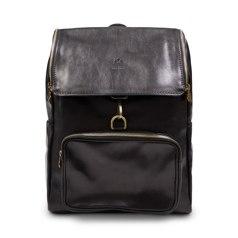 Burrows and Hare Leather Backpack - Black - Burrows and Hare