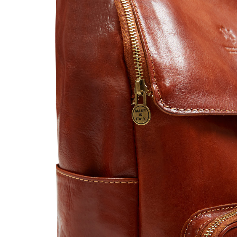 Burrows and Hare Leather Backpack - Light Tan - Burrows and Hare