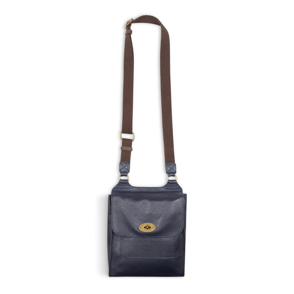 Burrows & Hare Across Body Leather Bag - Navy - Burrows and Hare