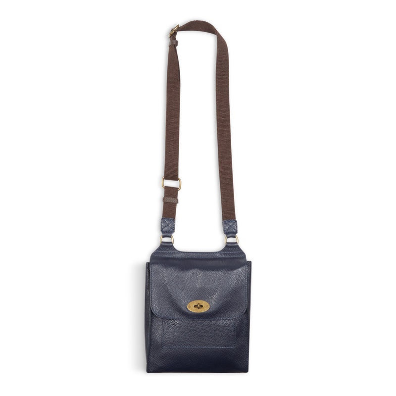 Burrows and Hare Leather Side Bag - Navy - Burrows and Hare