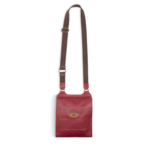 Burrows and Hare Leather Side Bag - Burgundy - Burrows and Hare