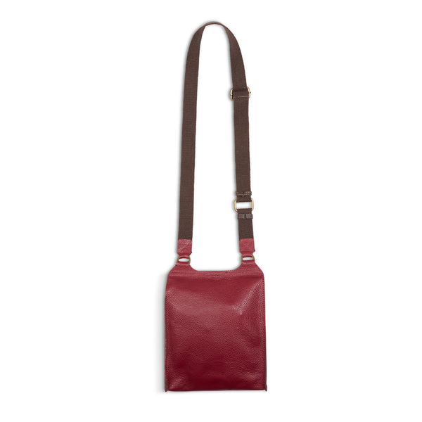 Burrows & Hare Across Body Leather Bag - Port - Burrows and Hare