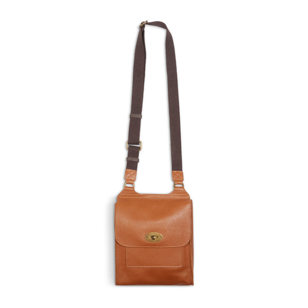 Burrows and Hare Leather Side Bag - Tan - Burrows and Hare