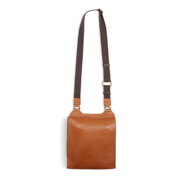 Burrows & Hare Across Body Leather Bag - Tan - Burrows and Hare