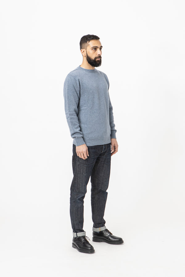 Burrows & Hare Alpaca Crew Neck Jumper - Sky - Burrows and Hare