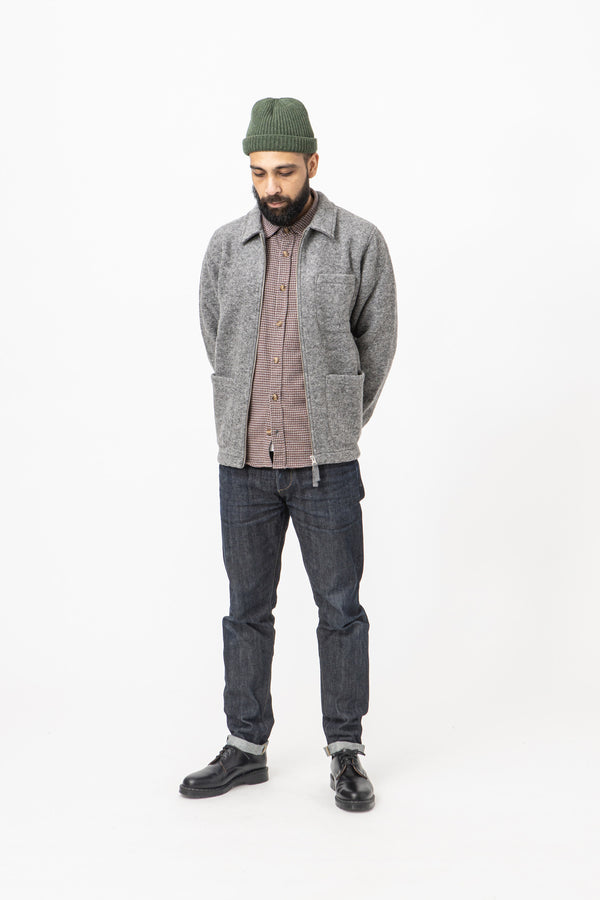Hartford Work Zip Jacket - Grey - Burrows and Hare