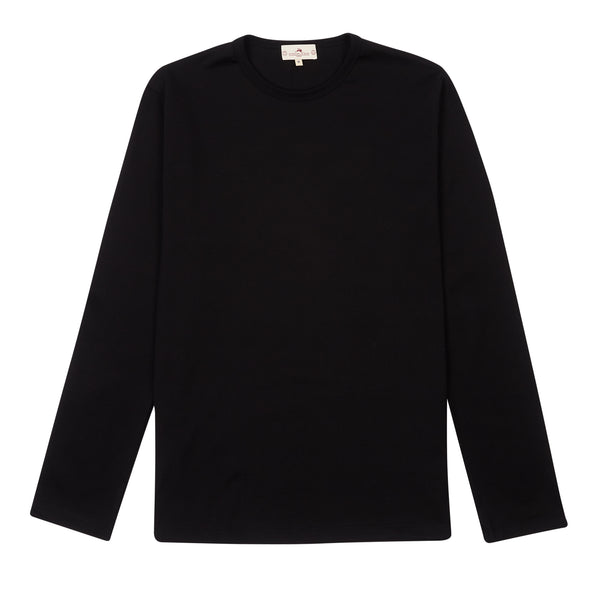 Burrows and Hare long sleeve T-Shirt - Black - Burrows and Hare