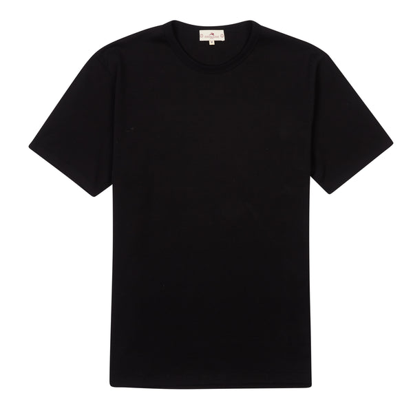 Burrows & Hare Regular T-Shirt - Black - Burrows and Hare