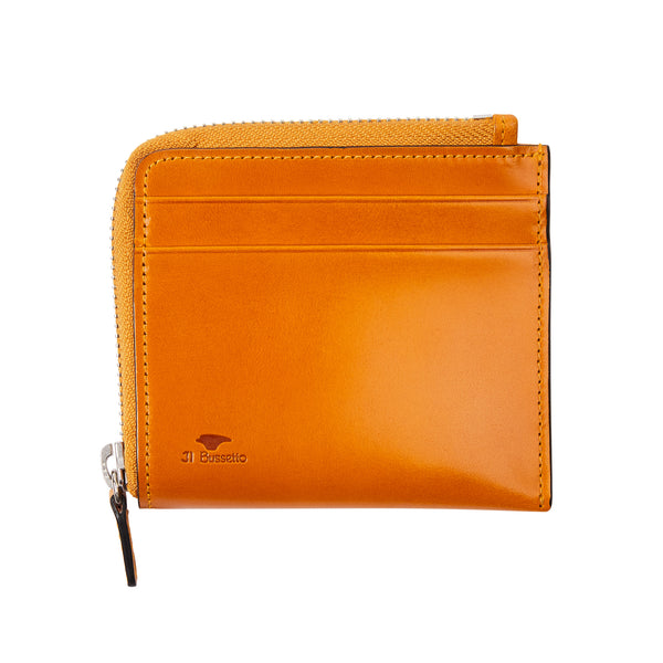 Il Bussetto Zip Around Wallet - Ochre - Burrows and Hare