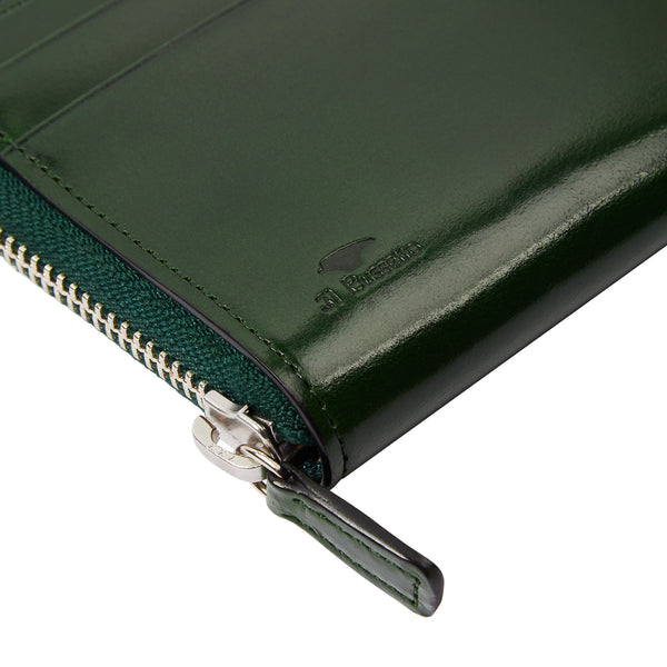 Il Bussetto Zip Around Wallet - Green - Burrows and Hare
