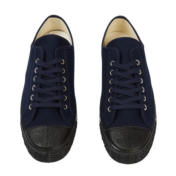 US Rubber Military Low Top - Navy - Burrows and Hare